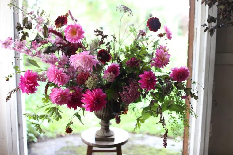 Floret pink dahlia bouquet